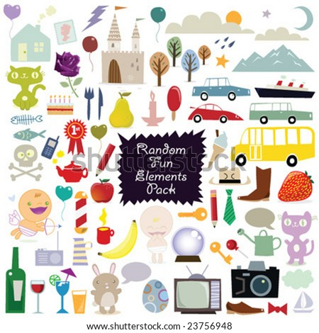 various fun vector elements