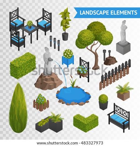 various garden park landscape