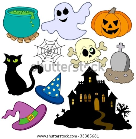 Various Halloween images 2 - vector illustration. - stock vector