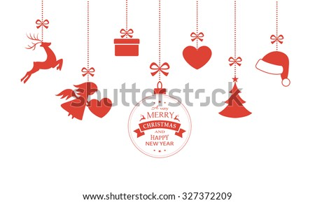 various hanging christmas