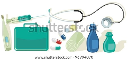 Various health, medical and first aid related items