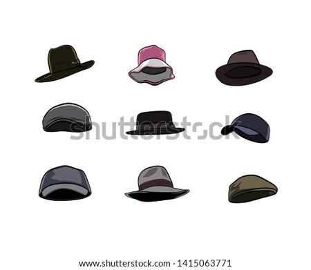 various illustration hat vectors, celebrities.