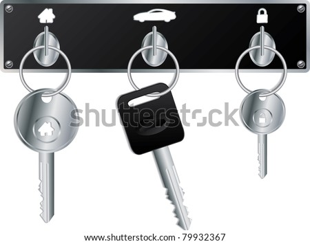 various keys on the wall