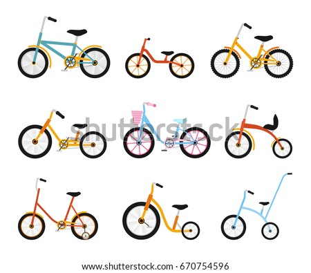 various kids bikes collection