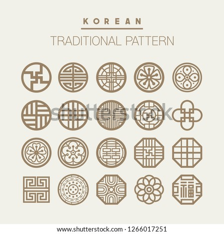 Various Korean traditional pattern vector set. EPS10