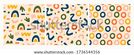 various lines  dots and shapes