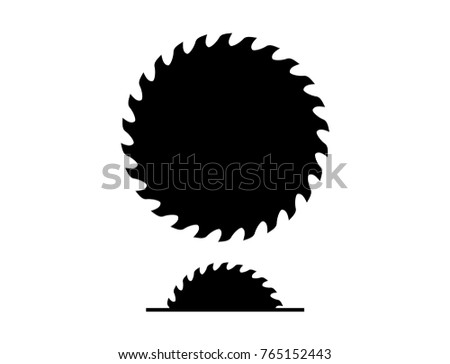 Various Machine Saw and Circle saw blade Construction Tool Silhouette