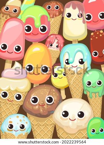 various miscellaneous ice cream