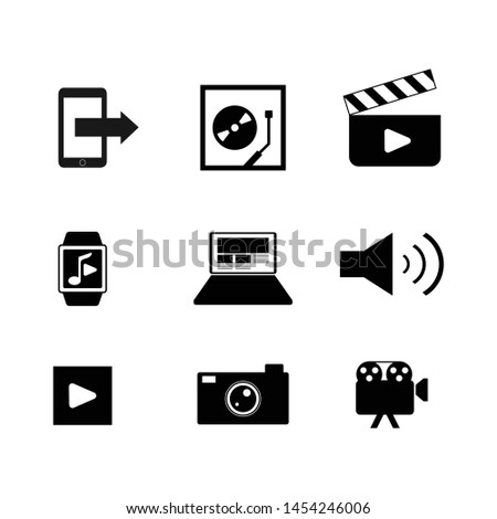 Various multimedia icon vector set design image