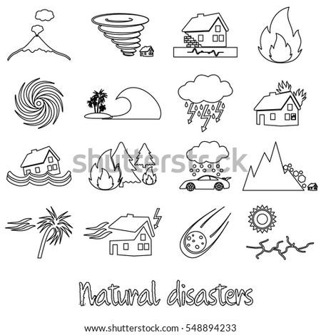 various natural disasters