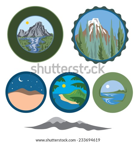various nature icon collection