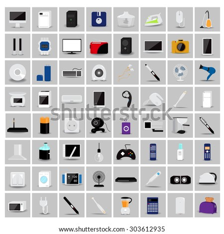 various objects and appliances