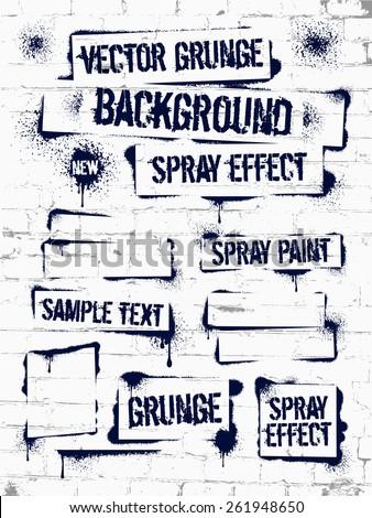 various of grunge spray