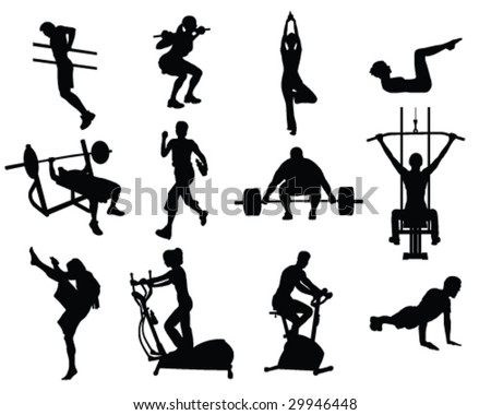 Various people working out
