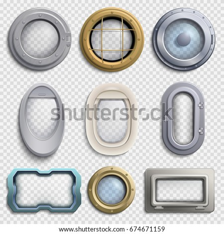various portholes isolated