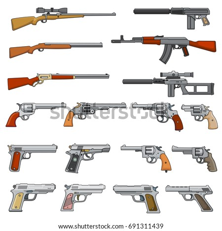 various rifle  guns and pistols