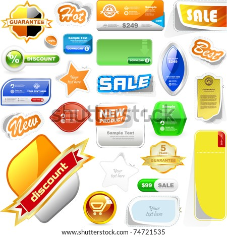Various sale design elements