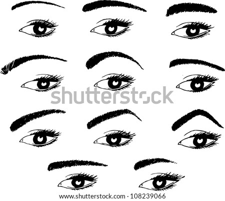 Eyebrow Clipart Various shapes of eyebrows