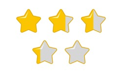various shapes of stars to show scores. Star rating set Free Vector. Suitable for game design element for gamers ranking.