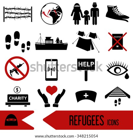 various simple refugees theme