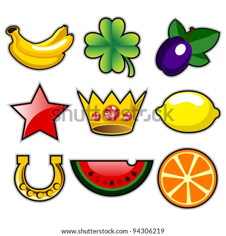 various slot machine fruit