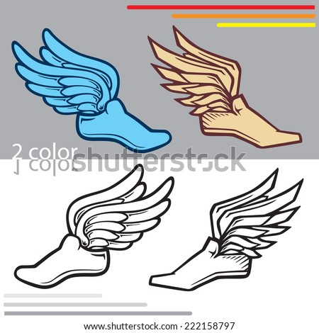 various sneakers with wings