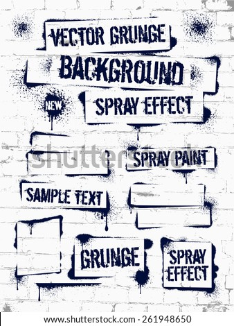 various spray paint graffiti on