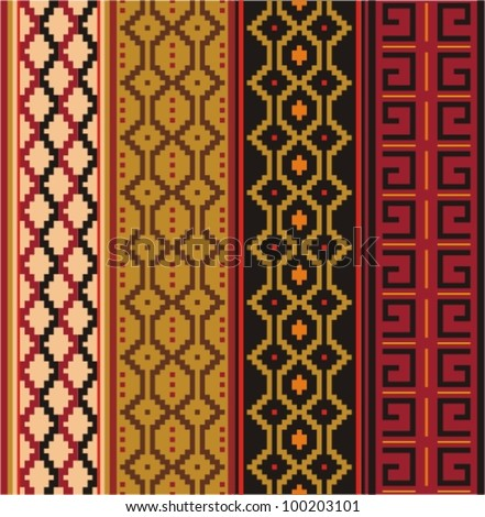 Various strips motifs in natural color