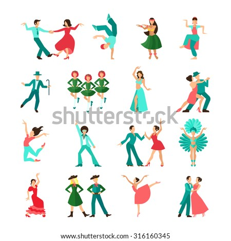 various style dancing men solo