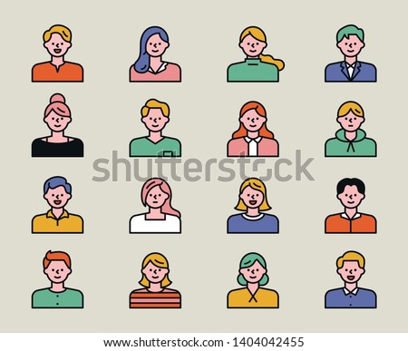various style of avatar. flat design style minimal vector illustration