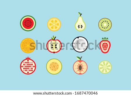 various tasty fruits  berries