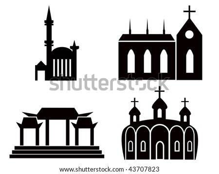stock-vector-various-temple-and-church-illustrations