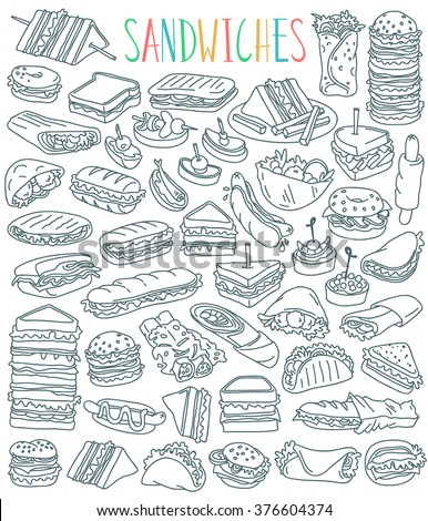 various types of sandwiches