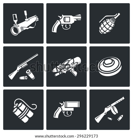 various types of weapons icons
