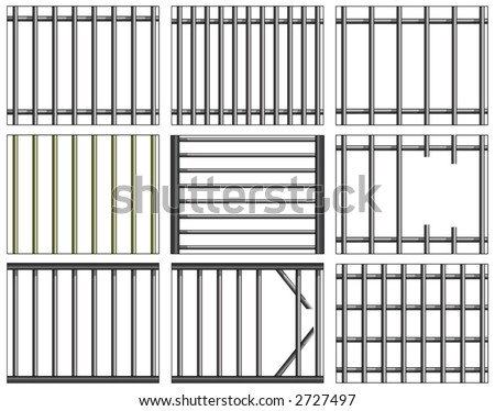how to draw prison bars