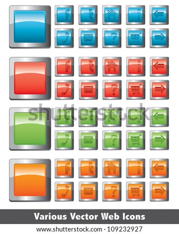 Various Vector Web Icons