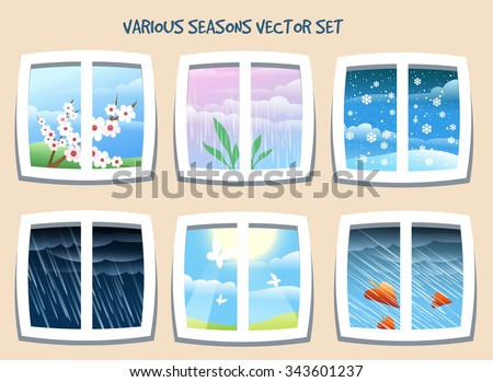 various weather or season set