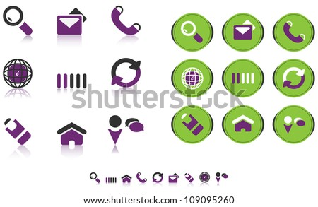 Various web icons. Suitable for both printing and Web design.
