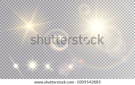 various yellow light effects