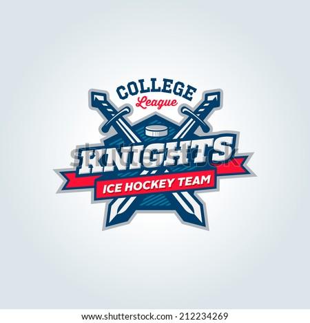 Varsity, college, school league sport team logo concept, apparel design
