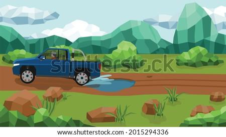 vast grassland and mountain