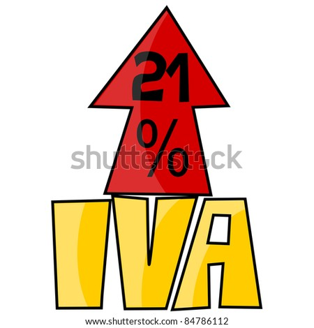 VAT on the rise - stock vector
