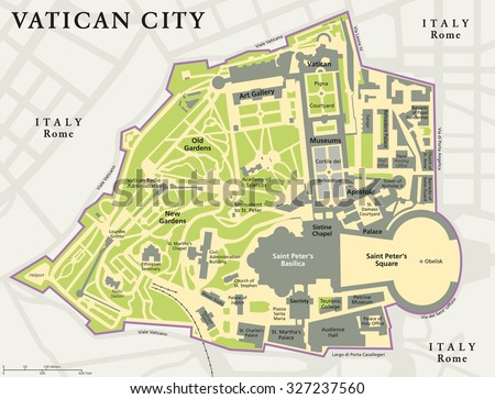 vatican city political map