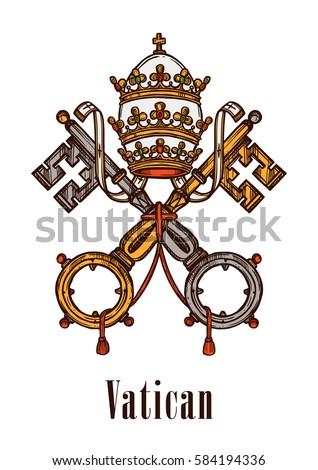 vatican heraldic keys state...