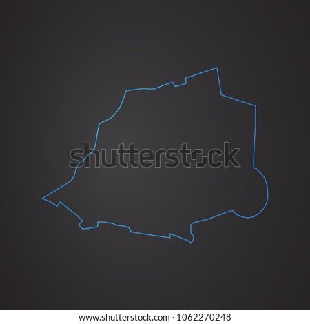 vatican map  blue glitter