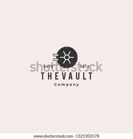 vault logo hipster vintage retro door vector icon illustration Сток-фото ©
