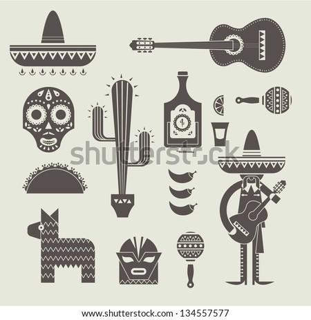 vecor illustration of various...