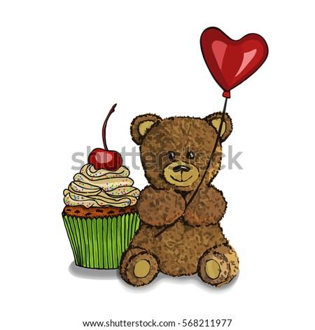 vector  a hand drawn teddy bear