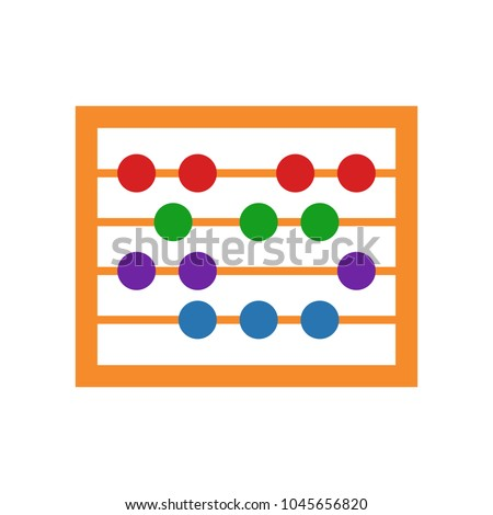 vector abacus icon, school & education icon