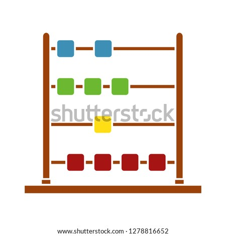 Vector Abacus icon -school symbol- mathematics icon - calculation symbol - accounting illustration- count sign - finance vector-educational equipment sign - learning vector